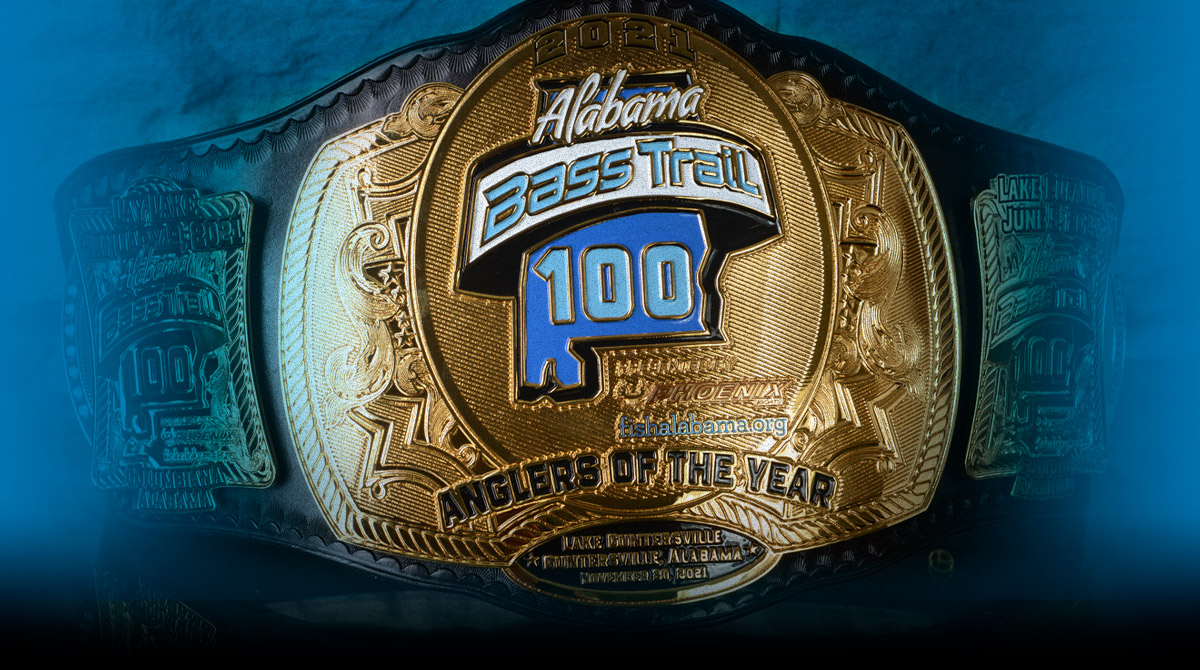 Alabama Bass Trail 100 Angler of the Year Title Belt